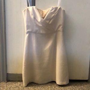 Short white BCBG prom dress